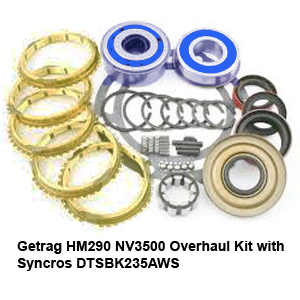 Getrag HM290 NV3500 Overhaul Kit with Syncros DTSBK235AWS1